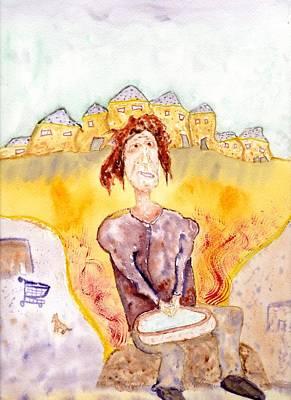 Painting - At The Homeless Mens Washroom by Jim Taylor