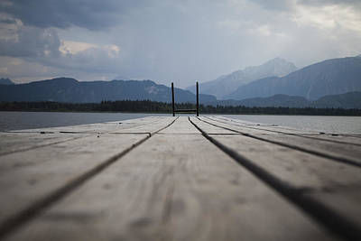 Wooden Platform Photograph - At The Jetty by Maria Heyens