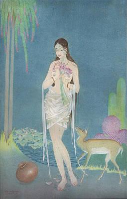 Painting - At The Lake by Tulsidas Tilwe