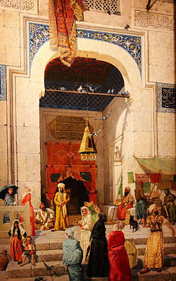 The Doors Poster Painting - At The Mosque Door by Celestial Images