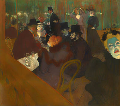 Eating Out Painting - At The Moulin Rouge by Mountain Dreams