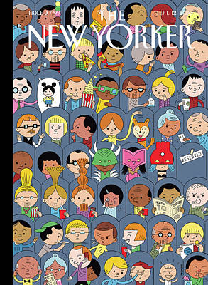 Audience Painting - At The Movies by Ivan Brunetti