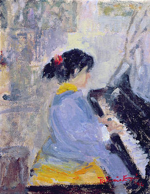 Children Playing Photograph - At The Piano, 1994 by Patricia Espir