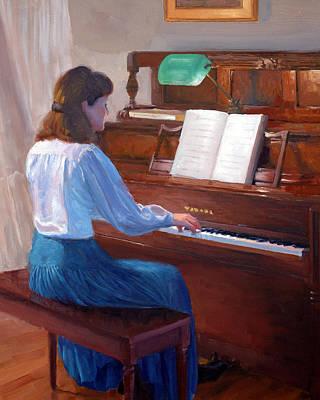 Piano Painting - At The Piano by Armand Cabrera