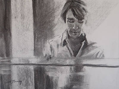 At The Piano Art Print by Carol Berning