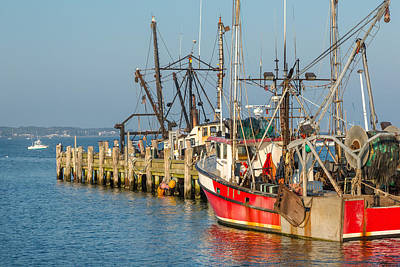 Boat Photograph - At The Pier by Bill Wakeley