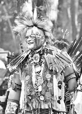 Photograph - At The Powwow - Black And White by Kim Bemis