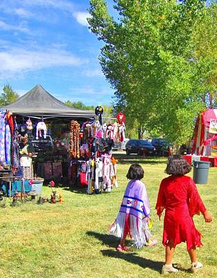 Photograph - At The Powwow by Marilyn Diaz