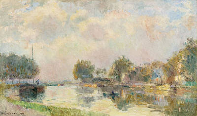 Painting - At The Riverbank by Albert Lebourg