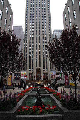 At The Rockefeller Center Art Print by Christiane Schulze Art And Photography