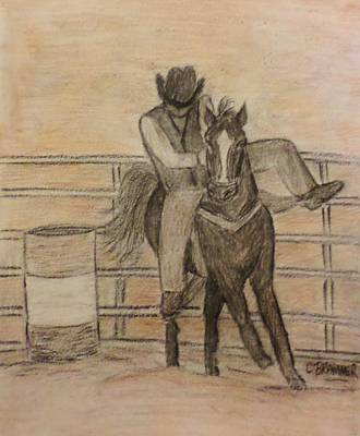 At The Rodeo Art Print by Christy Saunders Church