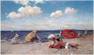At The Seaside Art Print by William Merritt Chase