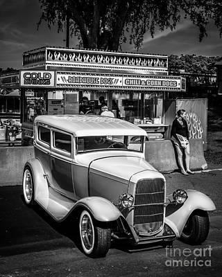 Street Rod Photograph - At The Stand by Perry Webster