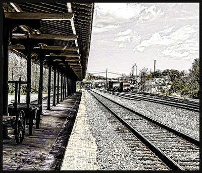 At The Station Art Print by Mike Waddell