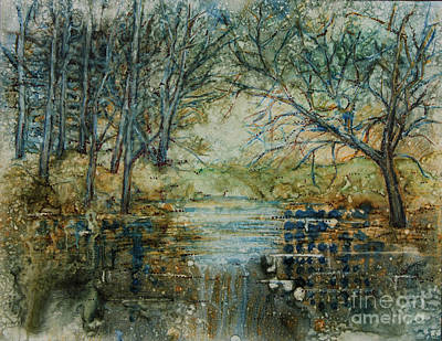 At The Stream Original by Janet Felts