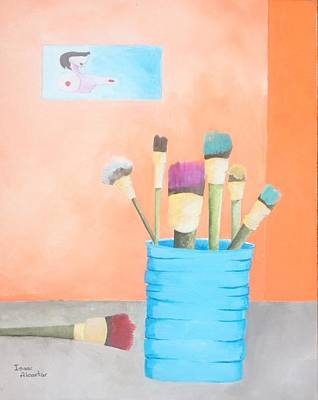 Painting - At The Studio by Isaac Alcantar