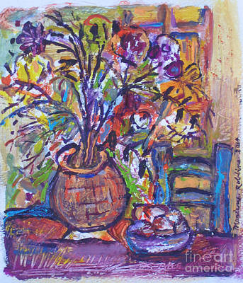 At The Table Art Print by Marlene Robbins