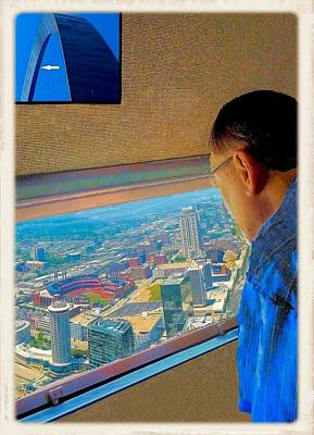 Photograph - At The Top Of Gateway Arch by Janette Boyd