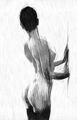 Desire Drawing - At The Wall by Steve K