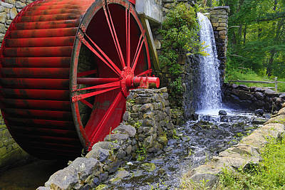 At The Wayside Inn Gristmill Art Print by John Hoey