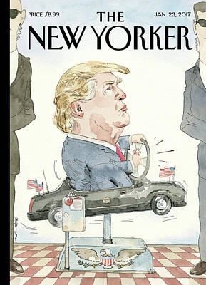 Politics Painting - At The Wheel by Barry Blitt