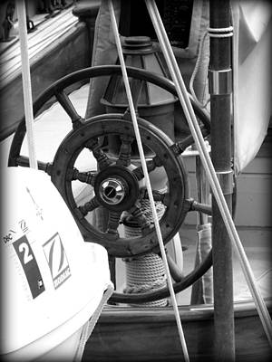 At The Wheel Bw Art Print by Dancingfire Brenda Morrell