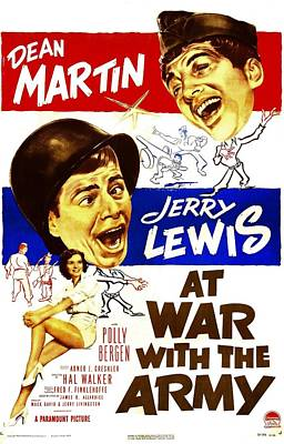 Dean Martin Poster Photograph - At War With The Army, Us Poster by Everett