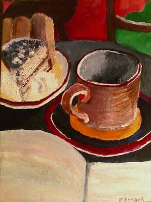 Painting - At Witches Brew Tiramisu Coffee And Writing Too by Darlene Berger