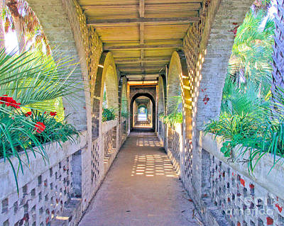 Photograph - Atalaya Breezeway by Mike Covington