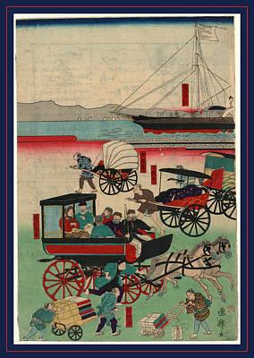 Outlook Drawing - Atarashii Norimono by Kuniteru, Utagawa (1808-1876), Japanese