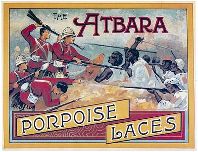 Photograph - Atbara Porpoise Laces Vintage Ad by Gianfranco Weiss