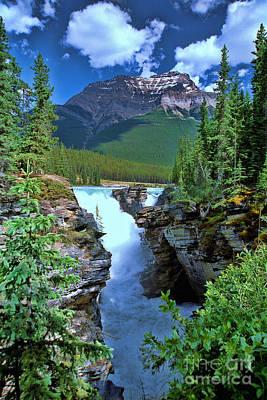 Photograph - Athabasca Falls 2 - Jasper National Park by Allen Beatty