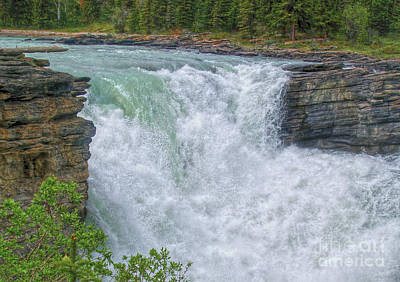 Photograph - Athabasca Falls Study V Close-up by Skye Ryan-Evans