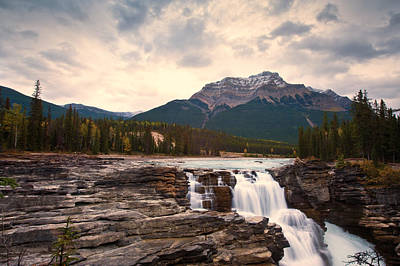 Photograph - Athabasca Falls Waterfall by U Schade