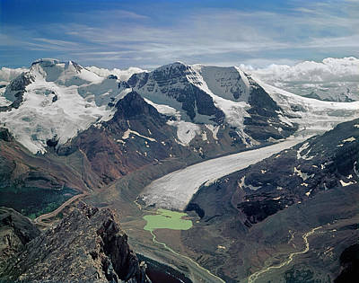 Photograph - 103753-athabasca Glacier Feeding From Columbia Ice Field by Ed  Cooper Photography
