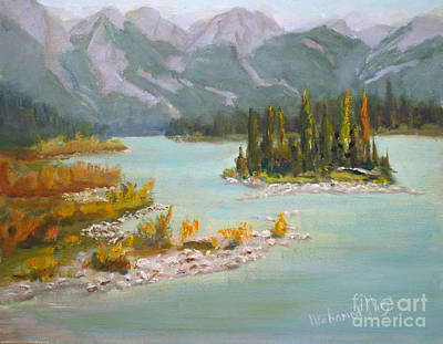 Athabasca River  Jasper Original by Mohamed Hirji