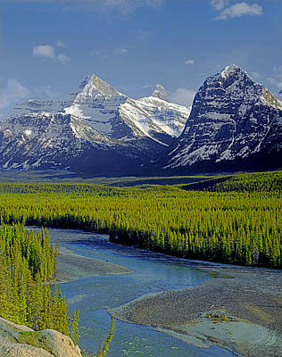 Photograph - 1m3845-athabasca River Valley by Ed  Cooper Photography