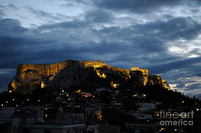Photograph - Athen Acropolis Night by Haleh Mahbod