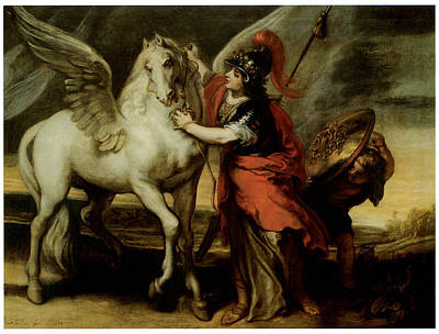 Athena And Pegasus Painting By Theodor Van Thulden