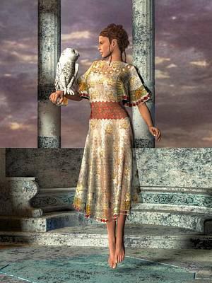 Athena Digital Art - Athena by Daniel Eskridge