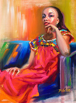 African Woman Painting - Athena by Talya Johnson