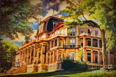 Lakes Digital Art - Athenaeum Hotel - Chautauqua Institute by Lianne Schneider
