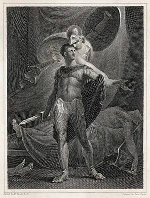 Athena/minerva Advises  Diomedes - Who Art Print by Mary Evans Picture Library