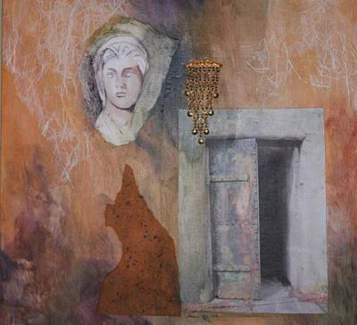 Contemplative Mixed Media - Athena's Door by Claudia Stewart