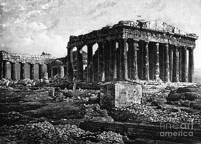 Athenian Acropolis, Parthenon, 1841 Print by Science Source