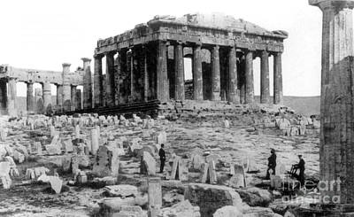 Athenian Acropolis, Parthenon, 1910 Print by Science Source