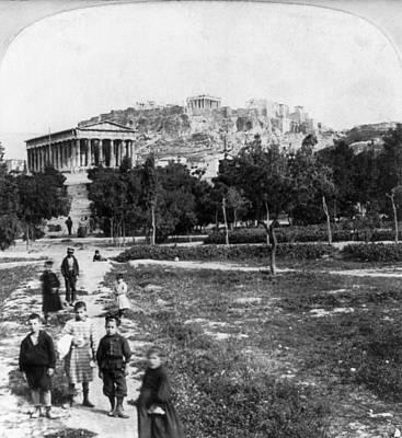 Photograph - Athens Acropolis, C1901 by Granger