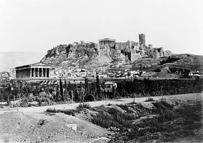 Nike Photograph - Athens Acropolis by Granger