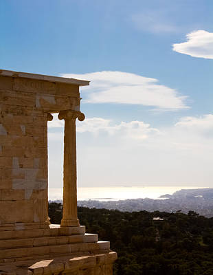 Photograph - Athens And The Sea From The Acropolis by Anthony Doudt
