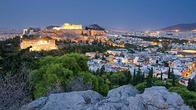 Photograph - Athens At Night by Stephen Taylor